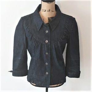 DKNY JEANS Denim Button Down Jacket Size L